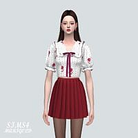Frill Sims 4 Blouse