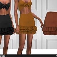 Frill Mini Skirt Sims 4