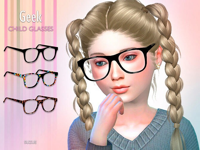 Sims 4 Geek Child Glasses by Suzue at TSR