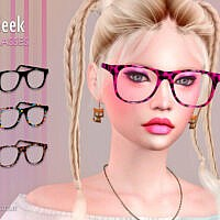 Geek Sims 4 Glasses