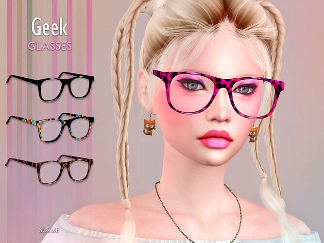 Geek Sims 4 Glasses
