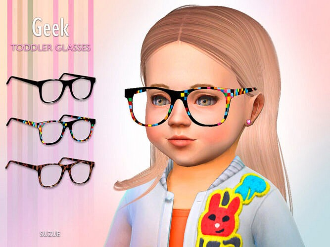 Geek Toddler Sims 4 Glasses
