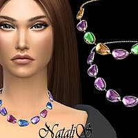Gems Sims 4 Necklace Mixed Colors