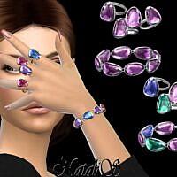 Gems Bracelet Sims 4 Rings Set