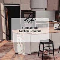 Germanium Sims 4 Kitchen Recolour