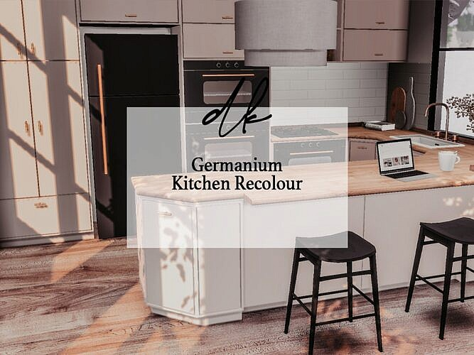 Germanium Sims 4 Kitchen Recolour
