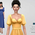 Glamour Sims 4 Dress Wide
