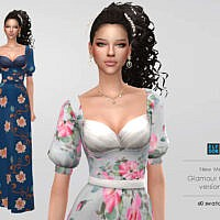 Glamour Sims 4 Gown V2