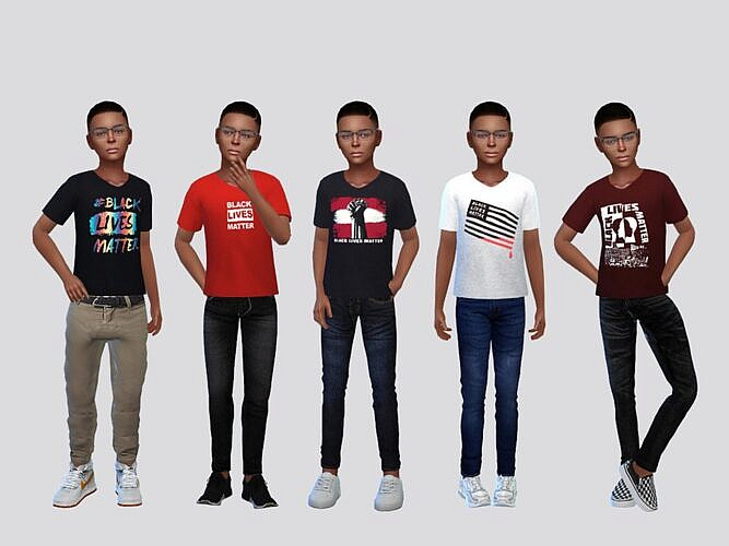 Graphic Sims 4 Tees Boys