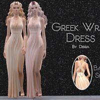 Greek Wrap Dress Sims 4