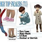 High Top Sims 4 Sneakers Toddler