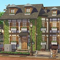 Half Timbered Sims 4 House