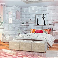 Haru Sims 4 Bedroom By Moniamay72
