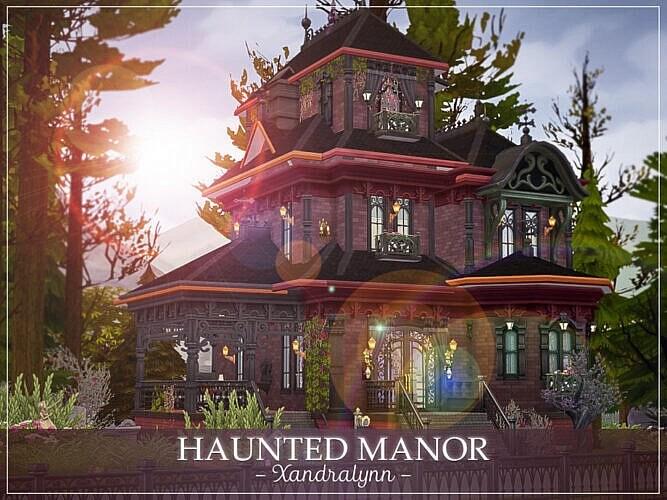 Haunted Sims 4 Manor By Xandralynn