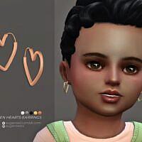 Hayden Hearts Sims 4 Earrings Toddlers