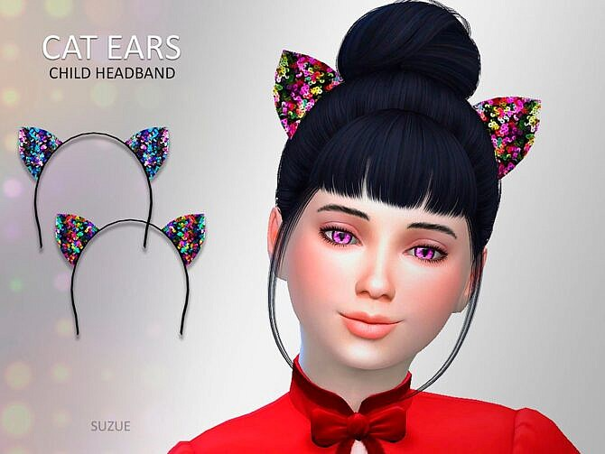Sims 4 Cat Ears Child Headband by Suzue at TSR