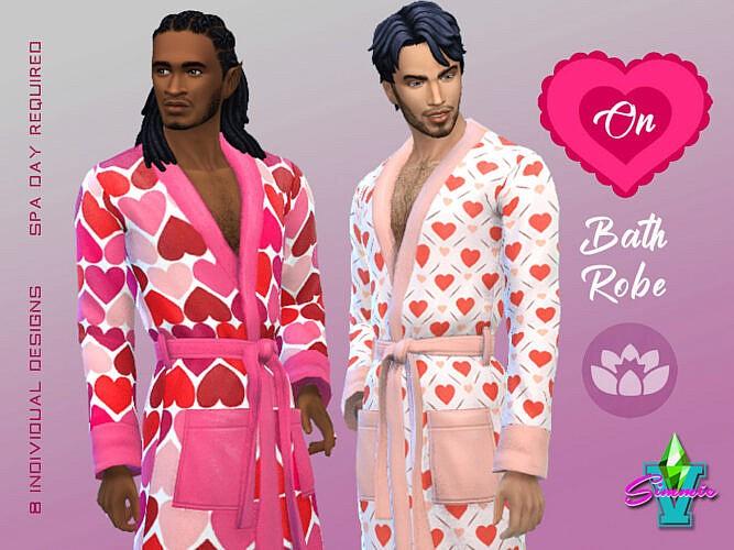 Heart On Sims 4 Bathrobe