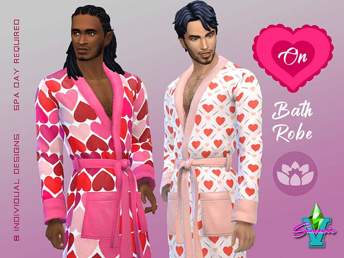 Sims 4 Heart On Bathrobe by SimmieV at TSR