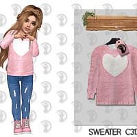 Heart Sims 4 Sweater C317
