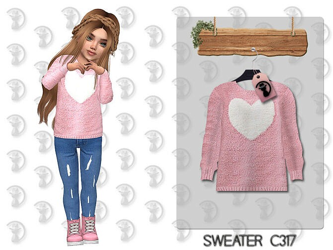 Sims 4 Heart Sweater C317 by turksimmer at TSR