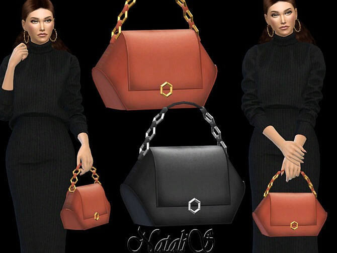 Sims 4 Hehagon shape hand bag by NataliS at TSR