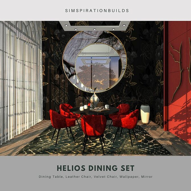Sims 4 Helios Dining Room Set at Simspiration Builds