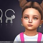Hoop Sims 4 Earrings Cat Tail For Toddlers