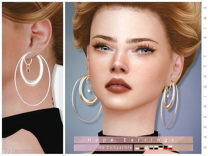 Sims 4 Hope Earrings by DarkNighTt at TSR