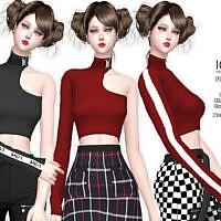 Iori Slash Shoulder Sims 4 Top