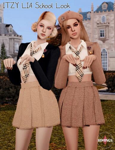 Itzy Lia School Look Sims 4 Clothes