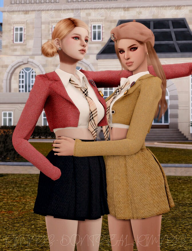 Sims 4 ITZY LIA School Look at RIMINGs