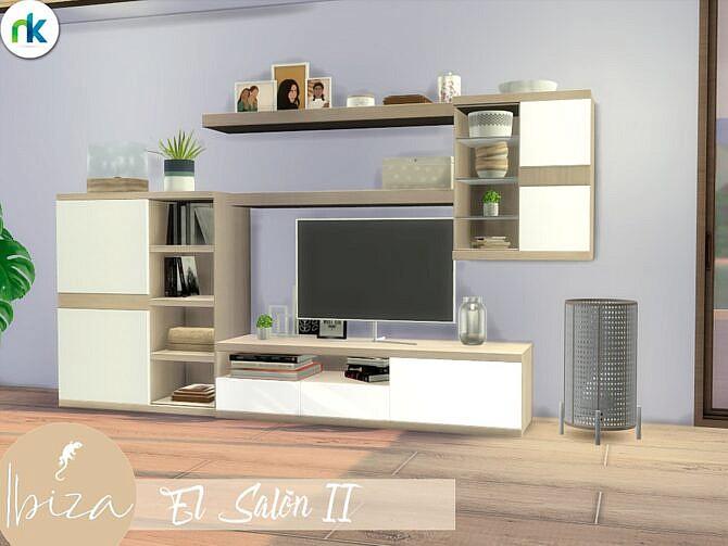 Sims 4 Ibiza TV units El Salon II by Nikadema at TSR