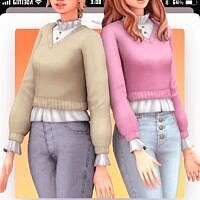 Inis Sims 4 Blouse