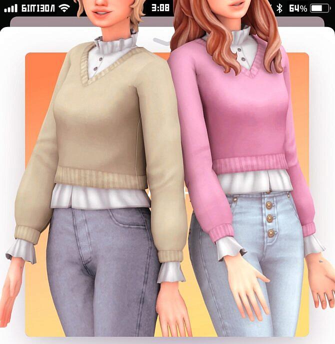 Sims 4 Inis blouse at Marso Sims