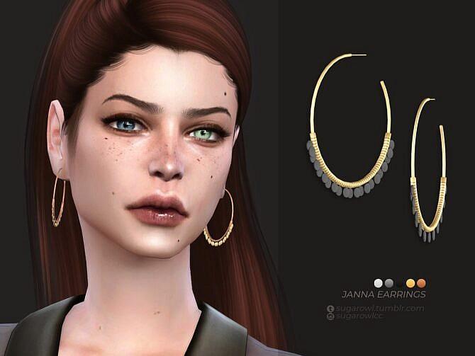 Sims 4 Janna earrings by sugar owl at TSR