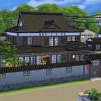 Japanese Kominka Sims 4 House