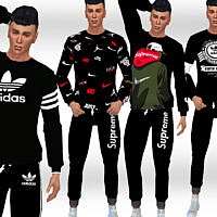 Jogging Sims 4 Sweatshirt Males