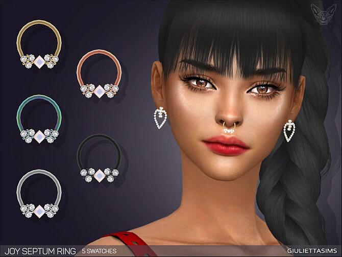 Sims 4 Joy Septum Ring by feyona at TSR