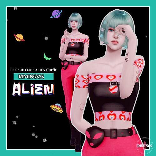 K Pop Alien Outfit Sims 4 Lee Suhyun