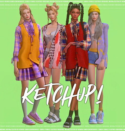 Ketchup Sims 4 Female Clothes Cc