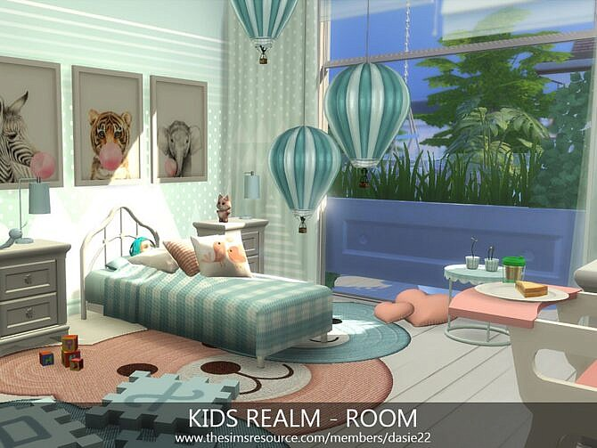 Sims 4 Kids Realm Bedroom with Bathroom by dasie2 at TSR