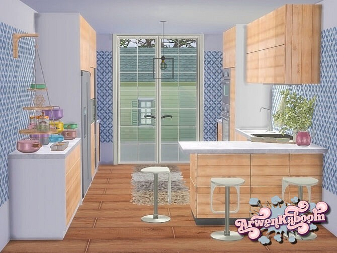 Sims 4 Kitchen Frosted Grove I by ArwenKaboom at TSR
