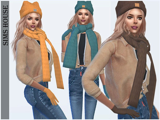 Sims 4 Knitted gloves by Sims House at TSR