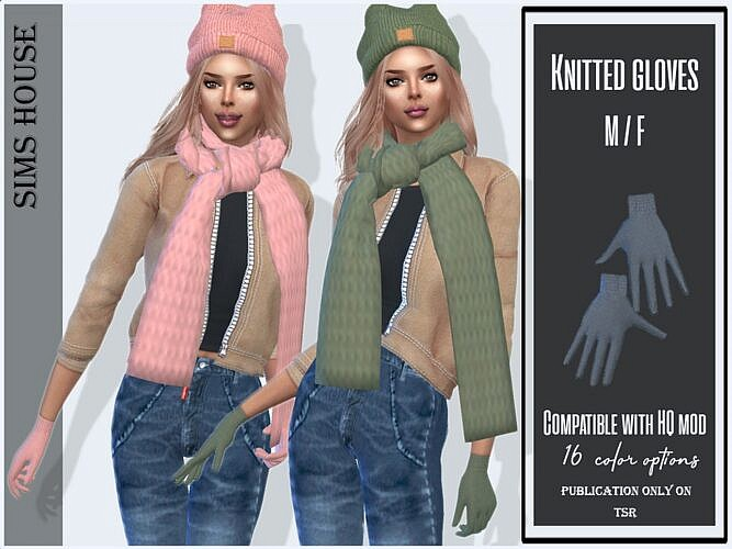 Knitted Sims 4 Gloves