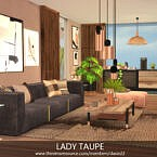 Lady Taupe Sims 4 Living Room