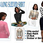 Long Sleeved Sims 4 Shirt Gp08