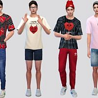 Love Graphic Sims 4 Tees