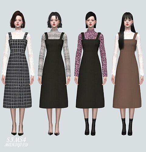 Lace Blouse Sims 4 Long Dress