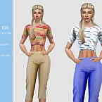 Ladies Sims 4 Crop Top 106