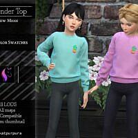 Lavander Sims 4 Top For Girls